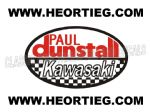 Paul Dunstall Kawasaki Tank and Fairing Transfer Decal DDUN7-1